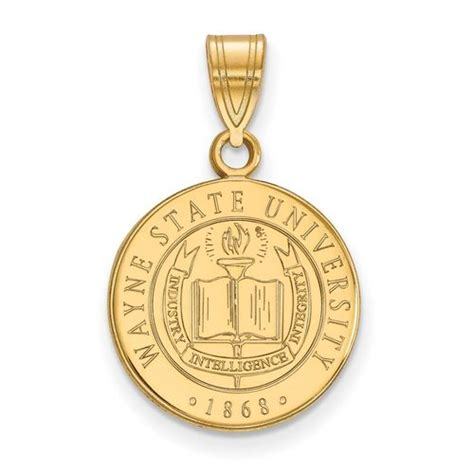 Wayne State Search Wayne State Medium Crest Pendant Gold Plated Silver Mpn Gp007way Homebello