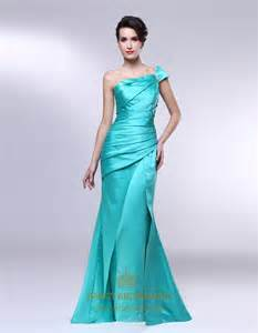 Dresses ruched one shoulder formal dress mermaid satin prom dress