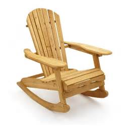 Garden Rocking Chair Garden Patio Wooden Adirondack Rocking Chair