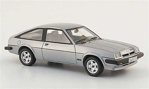 opel manta 1980 opel manta b cc gt e gray 1980 neo diecast model car 1 43