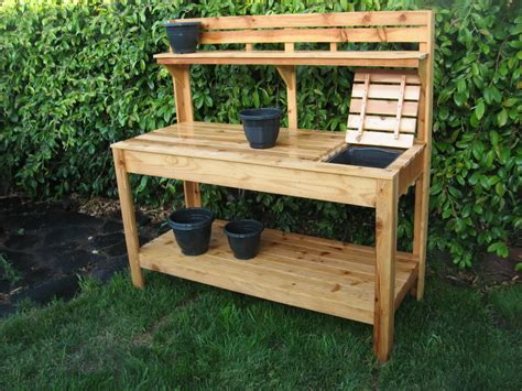 plant potting bench custom raised gardens garden pinterest raising
