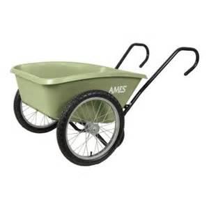 cart wheels home depot ames 5 cu ft total garden cart tccarth the