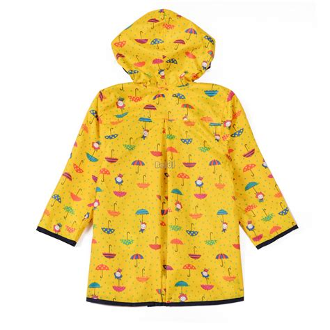 umbrella pattern raincoat kids raincoat waterproof hooded umbrella pattern cute