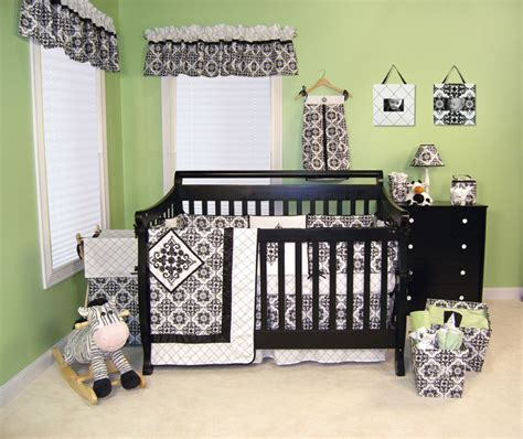 Black And White Nursery Decor Trend Lab Versilles Black White Collection Baby Care Solutions