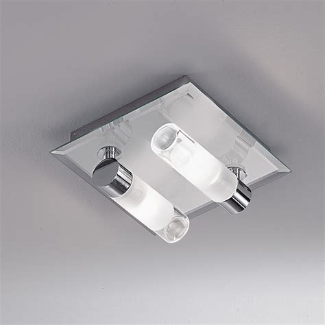 Franklite Bathroom Lights Franklite Cf5625 Ip44 2 Light Chrome Flush Bathroom Fitting