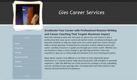 Resume Writing Services Review Of Giescareerservices