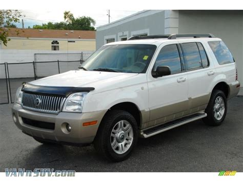 how it works cars 2005 mercury mountaineer navigation system 2005 mercury mountaineer v6 in oxford white j06145 vannsuv com vans and suvs for sale in