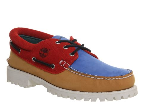 timberland lug boat shoes in multicolor for lyst