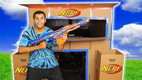 nerf car shooter nerf box fort challenge nerf arsenal 24 hour