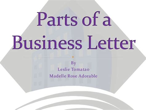 parts of a business letter parts of a business letter 1530