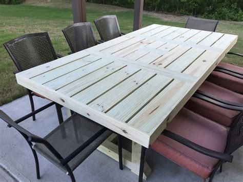 Build Your Own Patio Table Build Your Own Rustic Patio Table Using A Few Simple Supplies And This Easy Project Tutorial