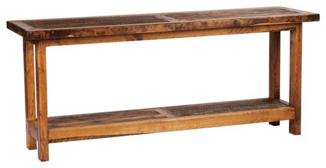 5 Foot Rustic Barnwood Reclaimed Wood Sofa Table 60 Inch 8 Foot Sofa Table