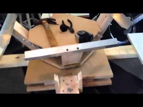 4 color press diy 4 color 4 station screen printing press