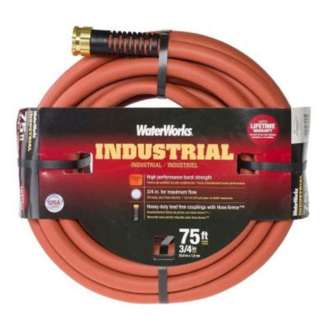 waterworks 3 4 in dia x 75 ft industrial garden hose