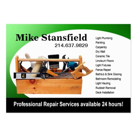 Free Home Improvement Business Card Templates by Home Repair Handyman Pack Of Business Cards Zazzle