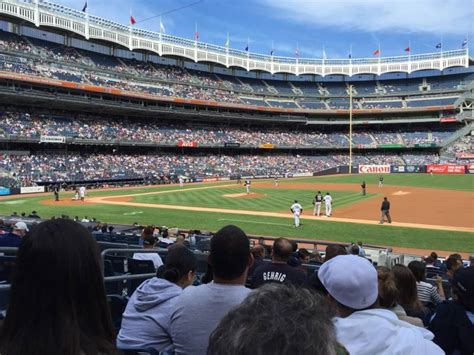 yankee stadium section 113 yankee stadium section 114a row 18 seat 11 new york