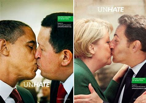 united colors of benetton ads benetton unhate ad caign features world leaders