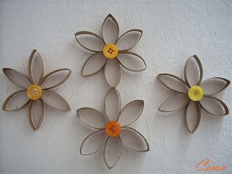 Toilet Paper Roll Flowers Craft - toilet paper roll flowers craft ideas