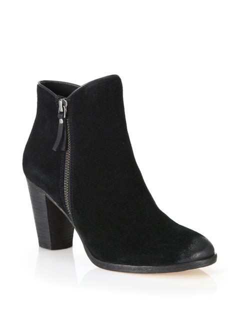 cole haan suede ankle boots in black lyst