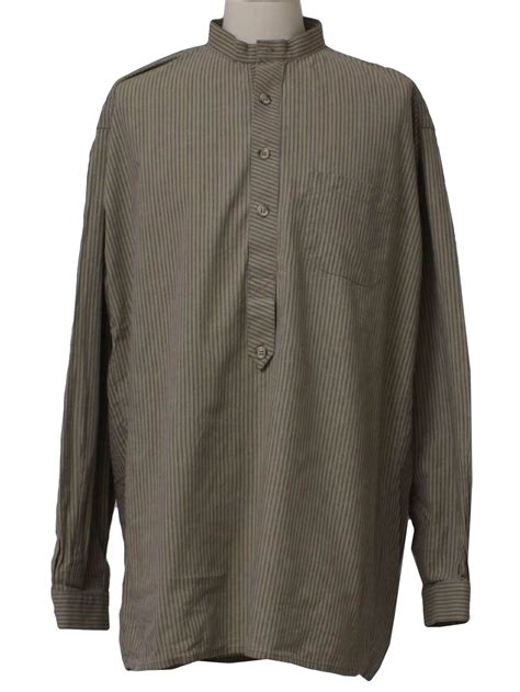 Wst 15832 Striped Collar Patch Shirt Western Shirt 90s Classic West Styles Mens Late