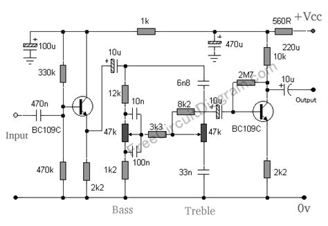 bc547 transistor gain baxandall tone using two transistors circuit wiring diagrams