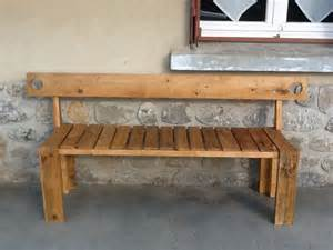 banc en bois de palette construction