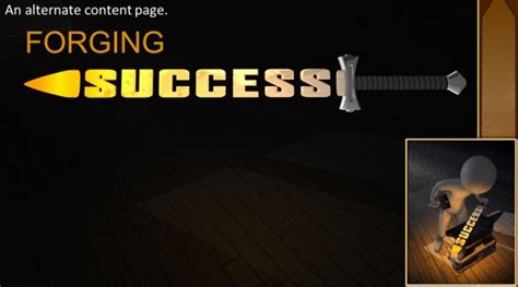 exciting powerpoint templates animated forging success powerpoint template