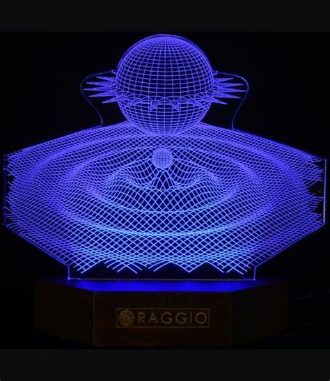 stylish transperant 3d led wireframe l magic bed