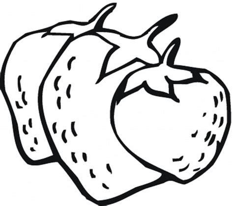 Fruits Coloring Part 25 Strawberry Coloring Page