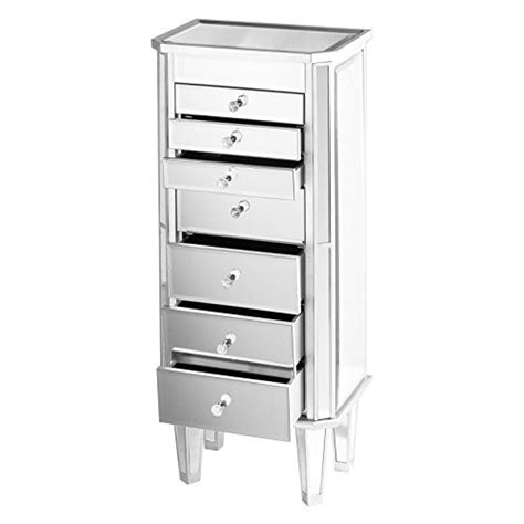 mirrored wall jewelry armoire beautiful nightstand style margaux wall standing mirrored