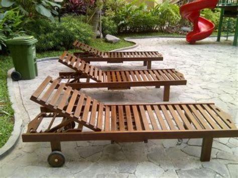 Kursi Kayu Pantai kursi pantai longer kayu jati jepara kursi santai kayu