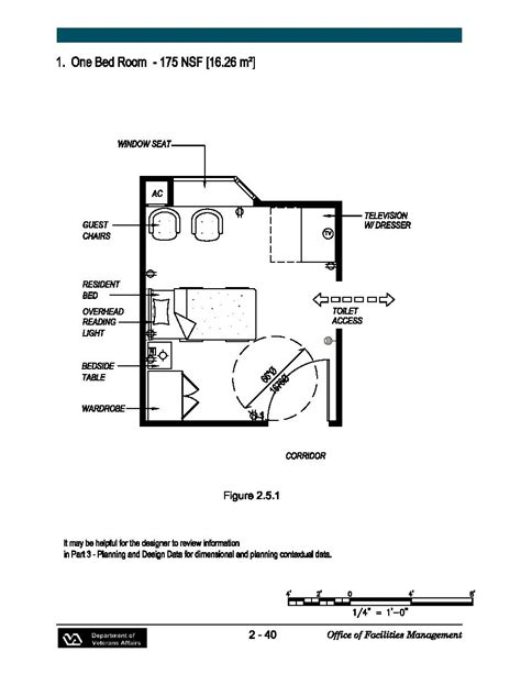 Nursing Home Layout Design One Bedroom 175 Nsf
