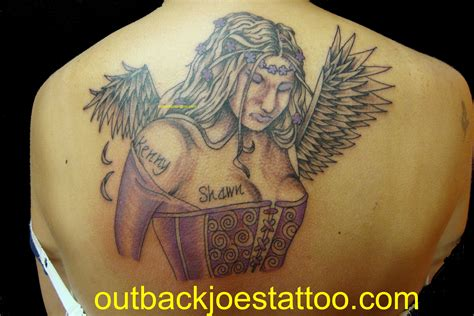 angel wings memorial tattoo outback joes tattoos and piercings videos and photos