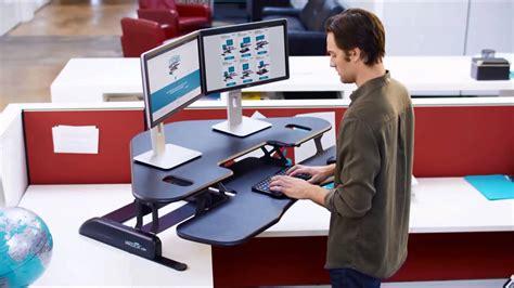 sit and stand desk converter varidesk cube corner 48 sit stand desk converter