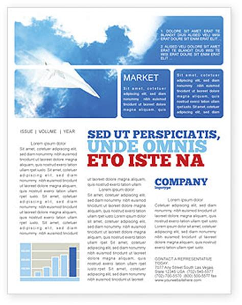 Paper Plane Newsletter Template For Microsoft Word Adobe Indesign 03676 Download Now Microsoft Word Newsletter Templates