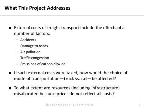 accounting for external costs in pricing freight transport