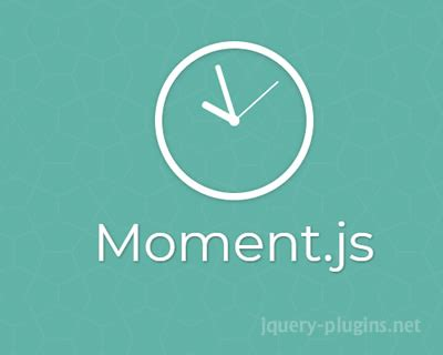 javascript format date using moment date operations jquery plugins