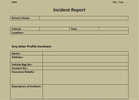 department incident report templates get incident report form excel template microsoft office