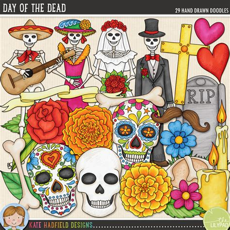 doodles from the den designed and illustrated by white of the fox design den books october s featured kit day of the dead