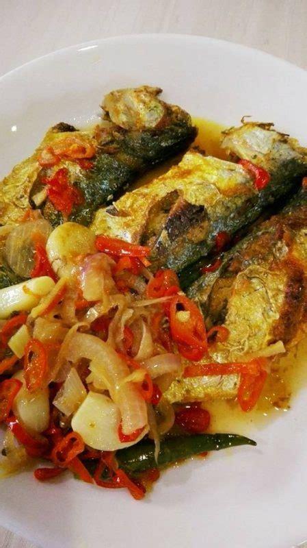 lauk kampung ikan temenung goreng masak asam rasa