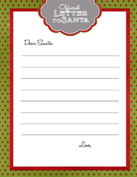 santa letter free template top 15 best blank letters to santa free printable