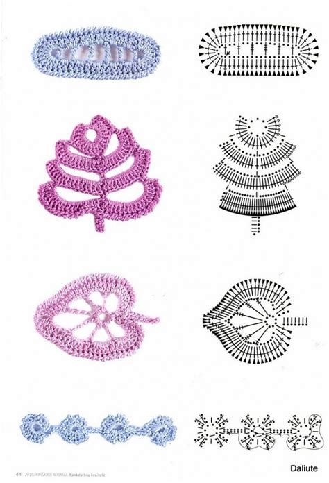 Small Botanical Crochet Motif Patterns Crochet Kingdom crochet leaves page 3 of 4 crochet kingdom 17 free