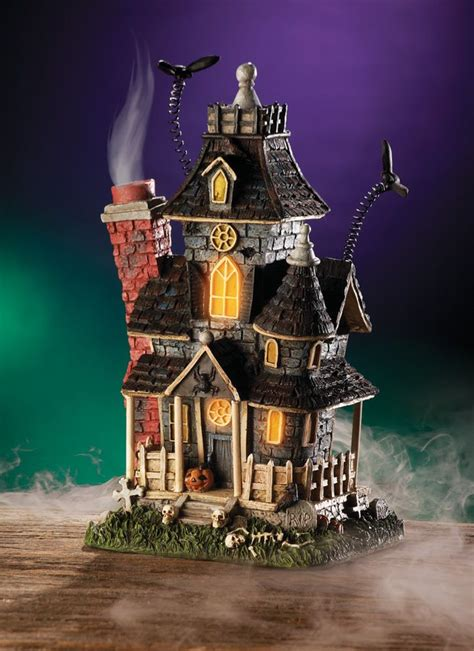 lighted mansion decoration haunted house table