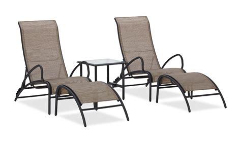 Aluminum Sling Patio Chairs Strathwood 5 Aluminum Sling Outdoor Furniture Set Patio Lawn Garden