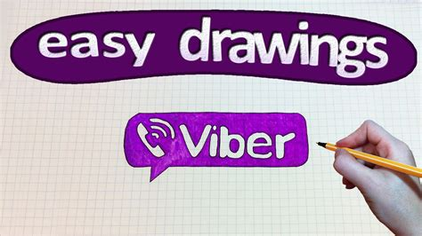 viber doodle drawings easy drawings 189 how to draw a logo viber