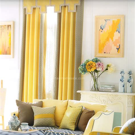 room darkening yellow modern curtains no valance 2016