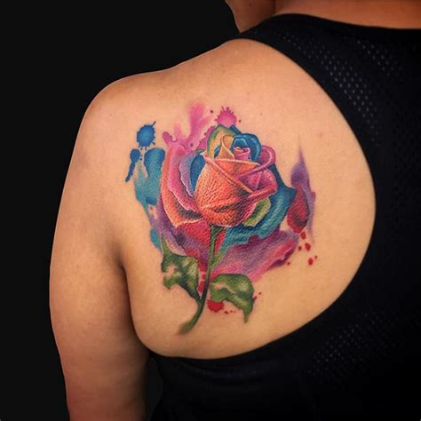 watercolor tattoos maryland watercolor rainbow by marc durrant tattoonow