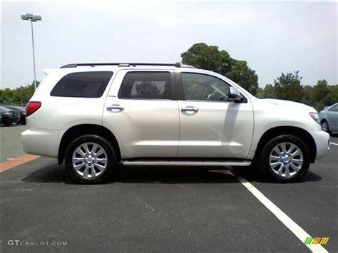2008 Toyota Sequoia Platinum Arctic Pearl 2008 Toyota Sequoia Platinum 4wd