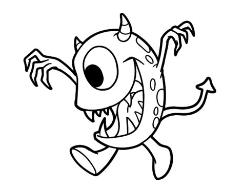 monster eyes coloring page monster with one eye coloring page coloringcrew com