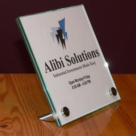 designer glass signs our products tabletop signs